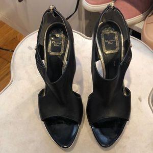 Christian Dior open toe booties